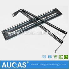 "AMP 1U 19"" cat6 24 port unshielded wall mounted RJ45 horizontal 110 IDC krone patch panel"