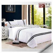 100% Cotton Wholesale Hotel Bed Linen Embroidered Bed Sheet Sets