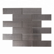 Silver Brick Stainless Steel Mosaic for Kitchen Wall