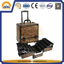 Профессиональный косметический чехол из алюминия на тележке для макияжа (HB-3302)