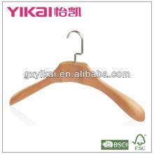 Natural matte beech wooden garment hanger