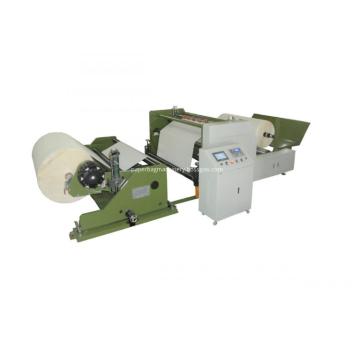 Máquina cortadora de rollos de papel térmico