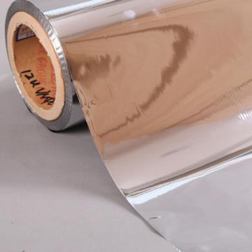 Film PET métallisé 6 microns pour stratification de plaques de papier