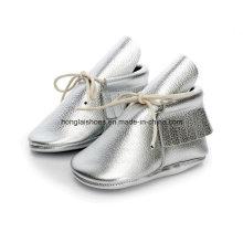Europa Leder gefranste Baby Schuhe