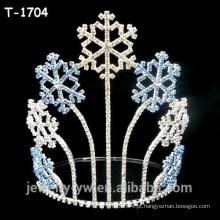 Atacado cor de cristal de cristal floco de neve coroas de concursos de Natal