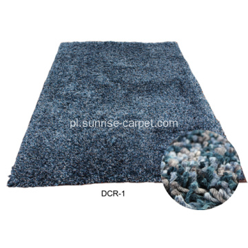 Miękki Polyester Shaggy Carpet Plain Color
