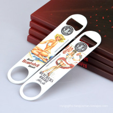 Sexy Fancy Custom Shape Sublimation Stainless Steel Manual Metal Can Bottle Opener