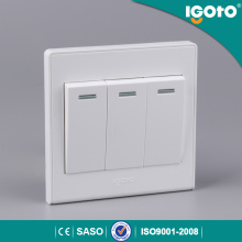 Igoto British Standard 3 Gang 1 Way Electrical Switch