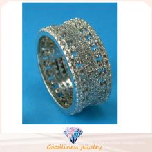 Кольцо стерлингового серебра 925 стерлингового серебра способа повелительницы полые все R10497