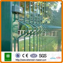 Grünes PVC beschichtetes geschweißtes gekrümmtes Maschendrahtfechten (ISO9001 u. CER)