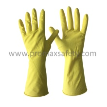 Gant de latex domestique jaune 35 mm DIP Flocked
