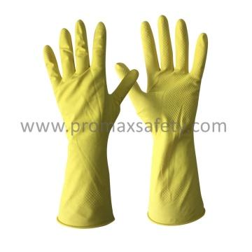 DIP Flocked Yellow Haushalt Latex Handschuh