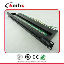 China Supplier rj11 rj45 patch panel T568 A, T568B wiring pattern