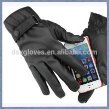 Guante de toque de cuero toque guante para hombres y guantes de mujer
