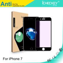 Protecteur d'écran en verre trempé léger anti-violet pour fibre de carbone 3D iPhone7
