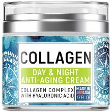 Natural Formula Organics Collagen Cream with Hyaluronic Acid & Vitamin C for Anti Aging Skin Care