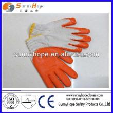 10G glatter Finish-Baumwoll-Latex-Handschuh
