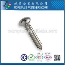 Créateur à Kaohsiung Taiwan Acier au carbone M3X10 Slot Phillips Oval Head Self Tapping Screw