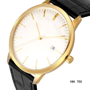 Swiss ETA automatic men 18K gold watch