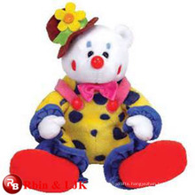 Meet EN71 and ASTM standard ICTI plush toy factory wholesale clown plush stuffed toy