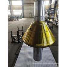 Гидравлическая конусная дробилка с одним цилиндром