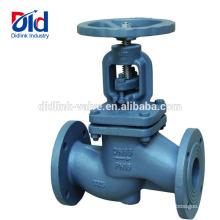Manual Nibco Alta presión Y Control de grúa Acabado criogénico Válvula de globo de hierro fundido Tipo de latón