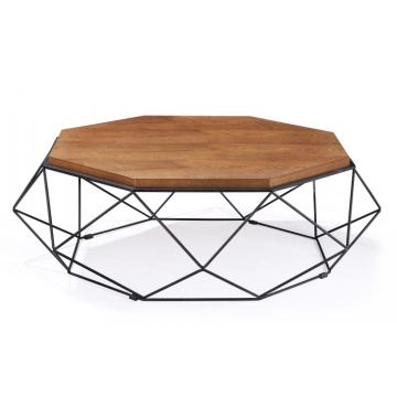 Big ModernDesign Round MetalLeg WoodTop Coffee Tea Tables