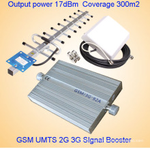 GSM WCDMA 900 2100MHz 3G señal de teléfono móvil amplificador / señal 3G repetidor / amplificador de teléfono celular con inspección gratuita Antennadiscount