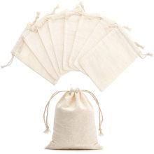 Eco friendly custom muslin cotton canvas drawstring bag for vegetables