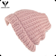 Wholesale Acrílico quente Crochet Winter Hat com punho