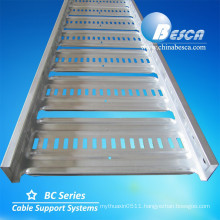 Light Duty AU type cable ladder tray pre-Galvanized steel/cable ladder tray/perforated cable tray(manufacturers.UL.CE.ISO.SGS)