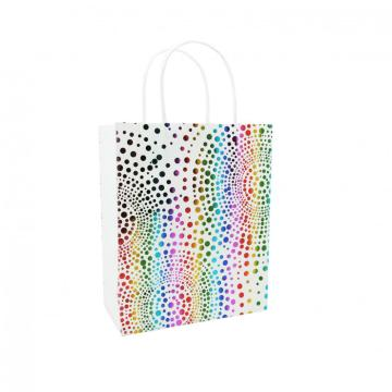 COLORFUL POLKA DOTS PAPER GIFTBAG -0
