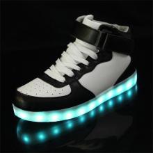PU Rubber LED Shoes Unisex LED Sneaker Big Size