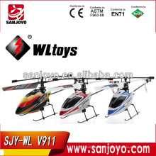 wl toys v911 2.4G 4CH Single Blade Gyro RC MINI Outdoor r/c copter With LCD and 2 Batteries v911 helicopter