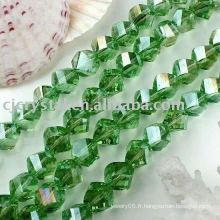 Perles de torsion de cristal