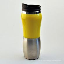 Copo de aço inoxidável de 450 ml, copo de café em aço inoxidável, copo de vácuo de aço inoxidável