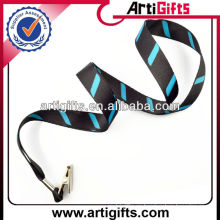 Custom logo nylon lanyard with clip
