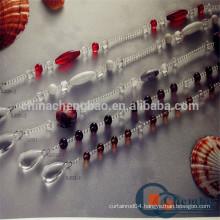 Custom transparent bead curtain for sliding window