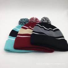 Chapeau de bonnet tricoté d'hiver classique (ACEK0118)