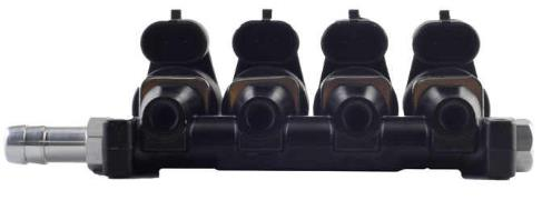 More display of OMB Type IG1 APACHE 4 Cylinders 3 Ohms Injector Rail