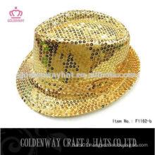sequin fedora party hat gold fedora hat