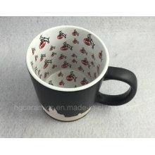 Full Inner Decal Printing Black Mug, Sandblast Mug
