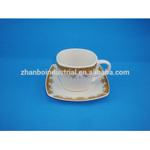 Fine porcelain espresso coffee cup and saucer