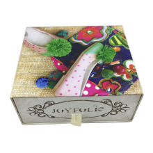 Wholesale color package label drawer shoe boxes custom big paper packaging box with logo printing