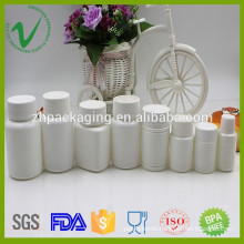 pharmaceutical customized design white HDPE pill plastic bottle wholesale