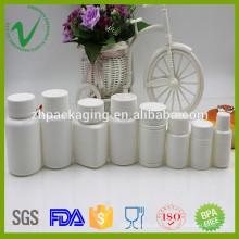 Farmacêutico design personalizado branco HDPE comprimido garrafa de plástico atacado