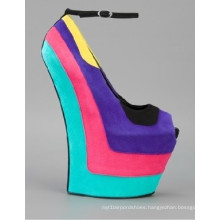 New Arrival Wedge Fashion High Heel Women Shoes (W 38)