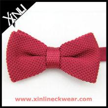 Pajarita de punto rojo, pajarita de moda de mujer