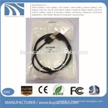 Câble HDMI plaqué or 1.4V mâle à mâle support 3D 1080P 1M 2M