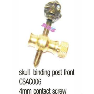 Frente de cobre amarillo del poste del cráneo para la máquina / el arma del tatuaje